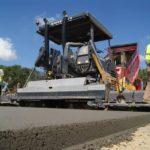 Voluojamo betono kelio tiesimo procesas, KTD Group